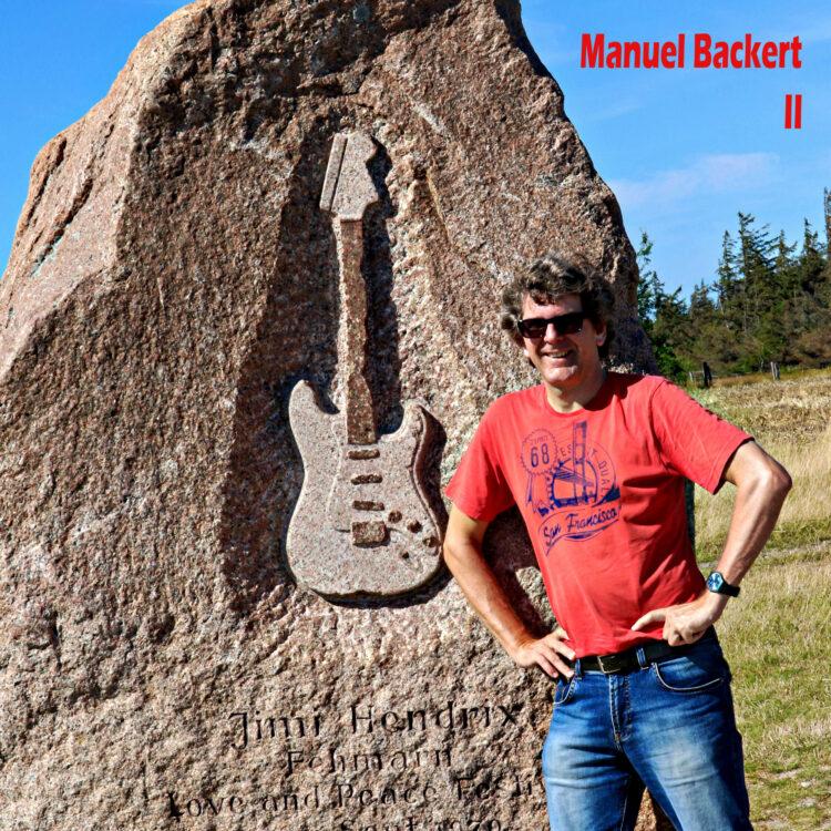 Fehmarn Jimi Hendrix Gedenkstein mit Manuel Backert
